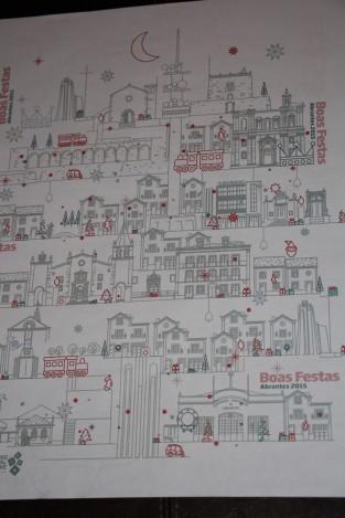 Papel de embrulho: Uma boa forma de promover a cidade
