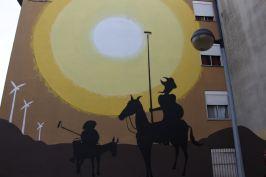 O D. Quixote moderno em vez da lança tem pincéis