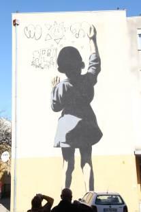 As crianças e os seus grafities